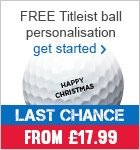 Free Titleist ball personalisation - from £17.99