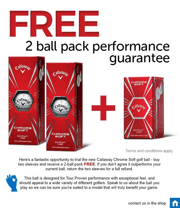 Callaway Performance Guarantee - free 2-ball pack