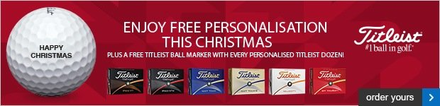 Free Personalisation on Titleists, from £19.99